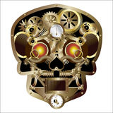 Steam punk skull Stock Photos