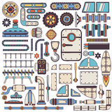 Steam punk spare parts Royalty Free Stock Photography