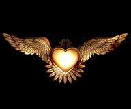Steam punk style heart and wings Royalty Free Stock Image