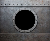 Steam punk submarine or military ship window Royalty Free Stock Photos