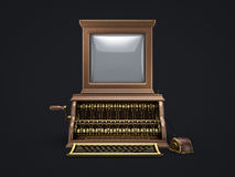 Steam punk vintage computer Stock Photo