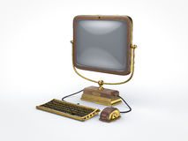 Steam punk vintage computer Stock Image