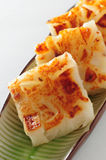 Steam raddish cake. Dim sum steam radish cake royalty free stock photography