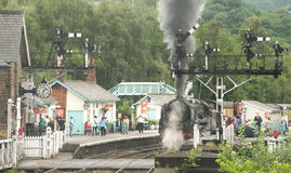 The Steam Railway at Grosmont. Royalty Free Stock Image