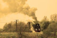 Steam retro train Stock Photography