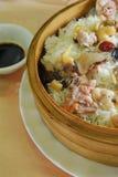 Steam rice. Chinese steam rice dim sum Stock Photo