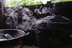 Steam from the rice cooker Stock Photography