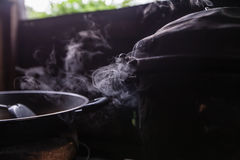 Steam from the rice cooker Royalty Free Stock Photo