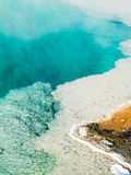 Steaming Hot Spring Pool at Yellowstone Stock Photography