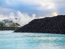 A Portion of the Blue Lagoon, Iceland Stock Photos