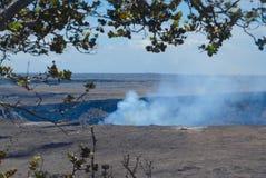 Steam Rising. From the Kilauea Caldera on the Big Island of Hawaii royalty free stock photos