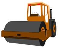 Steam roller. Heavy duty steam roller for road work Stock Image