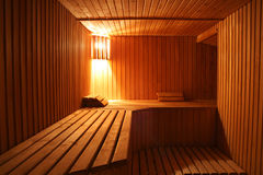Steam room. Wooden steam room in sauna royalty free stock images