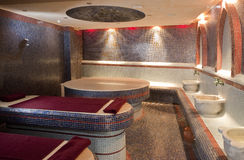 Steam sauna room. Interior shot on Steam sauna room Royalty Free Stock Photos