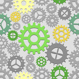 Steam Seamless. Seamless cogs background. Vector illustration Stock Photo