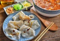Shanghai soup dumpling. Steam Shanghai soup pork dumpling royalty free stock photo