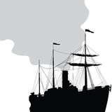 Steam ship Royalty Free Stock Photography