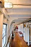 Steam ship deck interior  Royalty Free Stock Image