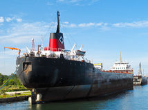 Steam Ship in Port Royalty Free Stock Images