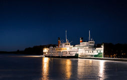 Steam Ships. A picture of the historic RMS Segwun which is the oldest operating hand fired steamships in North America and the Wenonah II docked at the