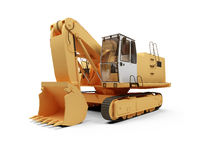 Steam shovel bulldozer Royalty Free Stock Image