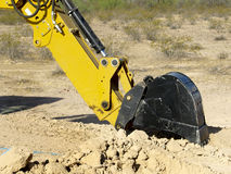 Steam Shovel Digging In The Ground - Horizontal Stock Photography