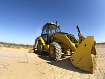 Steam Shovel Digging Into The Ground - Horizontal Royalty Free Stock Images