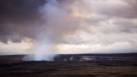 Steam and Smoke Rising From the Active Halemaumau Crater in Volc Stock Images