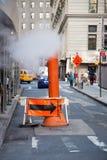Steam stack in Manhattan Stock Photo