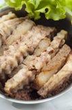 Steam taro with pork Royalty Free Stock Image