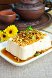 Steam Tofu with fried onion chinese style Stock Photography