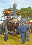 Steam Traction Engine at Roseisle vintage rally. Finella a steam powered traction engine on show at Roseisle vintage Rally held on 23rd September 2012 Stock Photo