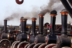 Steam traction engines. At dorset steam fair stock photos