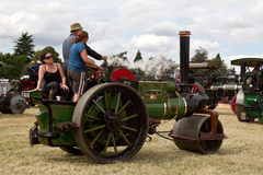 Steam traction roller Royalty Free Stock Image