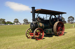Steam Tractor. This Steam Tractor was built by the Ransomes, Sims, and Jeffereries Company, in Ipswich England. They had been making farm agriculture machinery Stock Photo