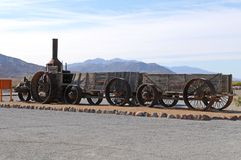 Steam Tractor in Death Valley Stock Images