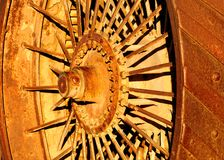 Steam tractor wheel Royalty Free Stock Images