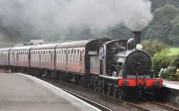 Steam Train. Entering a station on the North Norfolk Railway, UK Stock Photography