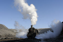 Steam train. Winter is one of the oldest running steam train in China royalty free stock images
