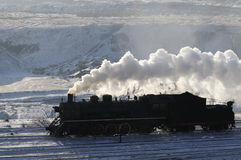 Steam train. Winter is one of the oldest running steam train in China stock photography