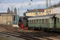 Steam Train. Historic steam train at the train station, Koblenz Germany Stock Images