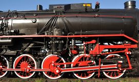 Steam train. Old polish steam train locomotive stock photos