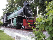 Steam train. Old steam train at day time Royalty Free Stock Images