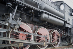 Steam train. Old train pulled by steam locomotive royalty free stock photos