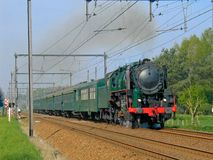 Steam train. Old steam train passing by Royalty Free Stock Image