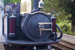 Steam train. Old steam train from the front Royalty Free Stock Image