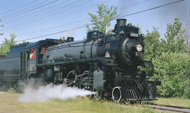 Steam Train. Canadian Pacific Railway's 1201 steam engine, Ottawa Canada. 6x7 Kodacolor drum scan royalty free stock image