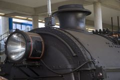 Steam Train. At a station Royalty Free Stock Photography