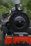 Steam Train. A steam locomotive ready to leave the station Royalty Free Stock Photo