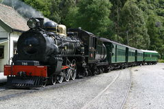 Steam Train. A steam locomotive ready to leave the station Stock Photos